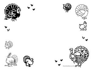 Turkeys!--Landscape--Blank