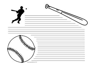 Baseball--Landscape--College-Rule