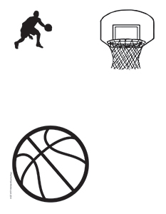 Basketball--Portrait--Blank