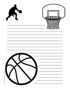 Basketball--Portrait--Wide-Rule