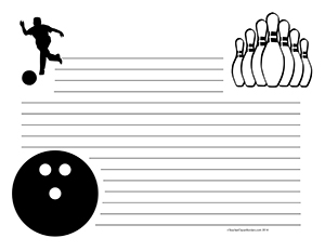 Bowling--Landscape--Wide-Rule