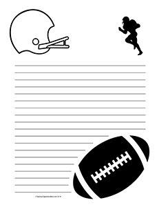 Football--Portrait--Wide-Rule