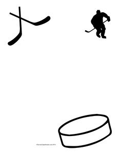 Hockey--Portrait--Blank