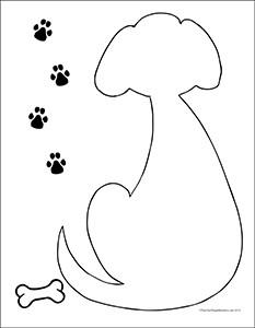 Puppy-Dog--Portrait--Blank