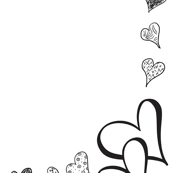 Many Hearts blank
