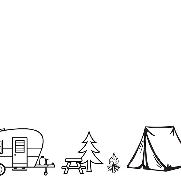 Camping Outdoors Blank
