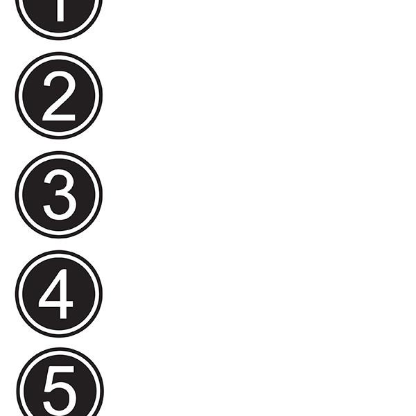 Numbers  1 2 3 Blank