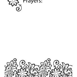 Prayer Journal Blank