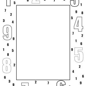 Numbers Border Blank